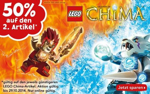 Bis zu 25% Rabatt auf Lego Chima durch 50% Rabatt auf 2. Artikel @Toys r Us