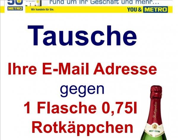 [METRO bundesweit?] 0,75L Flasche Rotkäppchen Sekt für Newsletteranmeldung