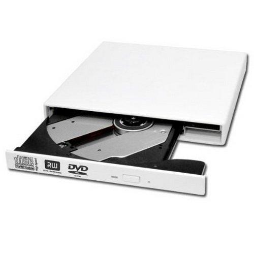 COOLEAD- DVD Brenner Laufwerk USB extern Slim DVD±RW, DL, DVD RAM , Farbe:Weiß >Amazone Prime