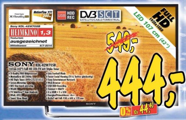 """(lokal) 42"""" Sony KDL-42W705B"""