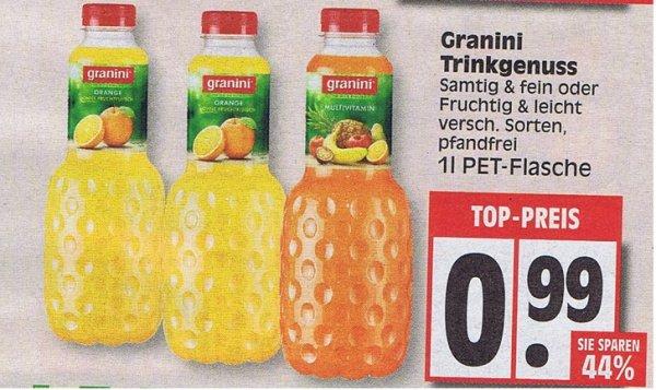 [Edeka]  Granini Trinkgenuss oder samtig und fein je Liter nur 0,99€