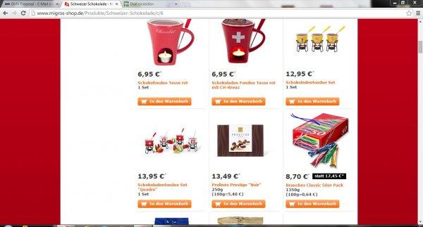 Branches Schokolade bei migros shop 100g ca. 0,42€.