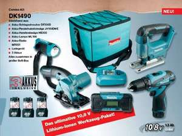 MAKITA DK1490 COMBO-KIT BLAU/SCHWARZ für neu Kunden (nullprozentshop.de)