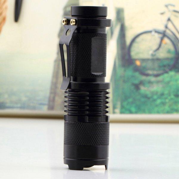 TASCHENLAMPE High Quality CREE Q5 Focus 320LM Water-Resistant LED Flashlight/Torch für 1,68€ (Ebay) Kostenloser Versand (Vergleichspreis Idealo 12,45€)