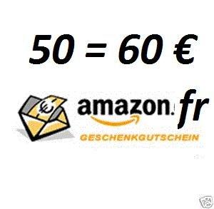 Amazon.fr 60€ Gutschein für 50 €