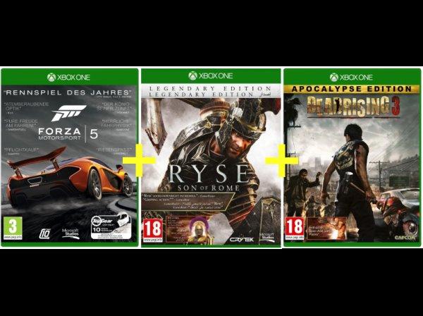 Dead Rising 3 Apocalypse + Forza 5 GOTY + Ryse Legendary Edition für Xbox ONE Bundle