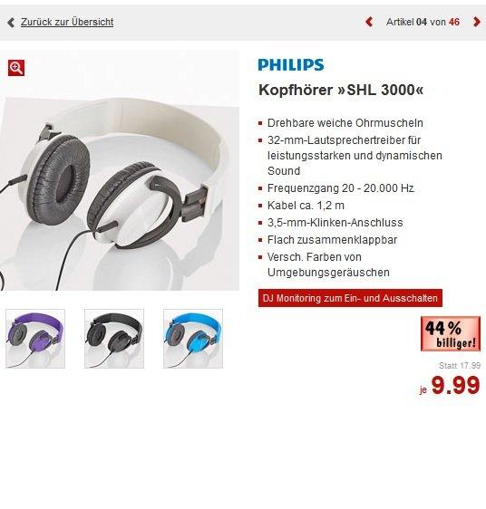 [Kaufland bundesweit] Philips SHL3000 Kopfhörer für 9,99€