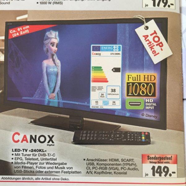"""[kaufland] Canox 24"""" FHD Fernseher"""