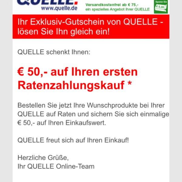 [Quelle] 50 Euro Rabatt auf ersten Ratenzahlungskauf
