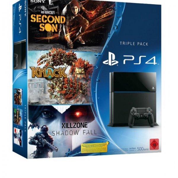 PS4 Bundle - Killzone: Shadow Fall, inFamous Second Son und Knack für 399€