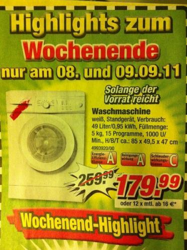 Günstige Waschmaschine Füllmenge 5kg bei Poco! 179,99€ !