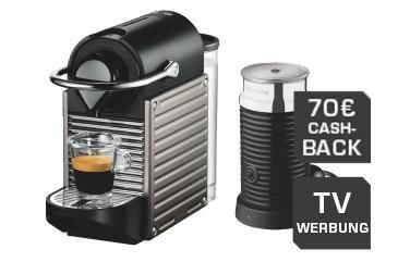 [Saturn] Nespresso Pixie und Aeroccino am Montag Für €129 plus €70 cashback