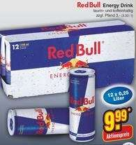 12er Tray Red Bull für 9,99€ [Netto Markendiscount]