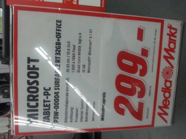 Windows Tablet P3W 0004 Surface2 RT 32GB (eventuell mit Tastatur) für 299€ (Lokal Stuttgart)