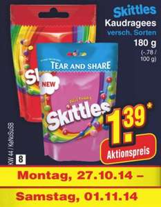 [Netto] Skittles 180g (Original / Wild Berry)