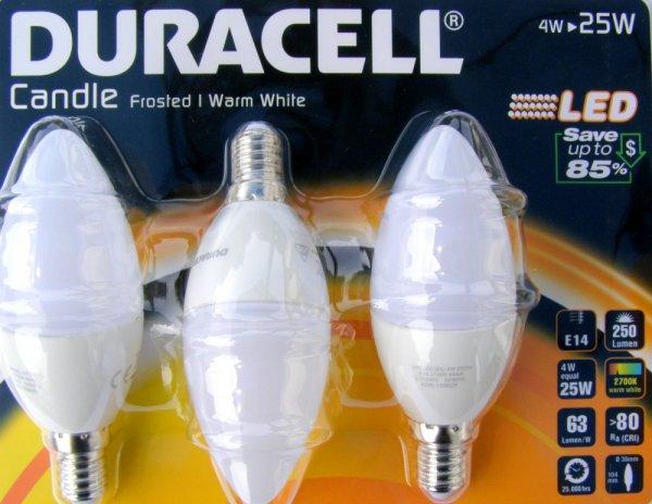 Duracell LED 4W E14 3Stück für 17,29€ @rakuten +35xSuperpunkte