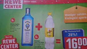 [REWE CENTER] Bombay Sapphire London Dry Gin 0,7L + Schweppes Indian Tonic Water 1,25L
