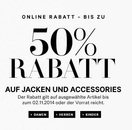 Bis zu 50% Rabatt auf Winterjacken und -accessoires im h&m Online Shop