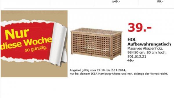 [Lokal IKEA Hamburg Altona] HOL Aufbewahrungstisch 98x50x50 für 39 € (statt 49 €)