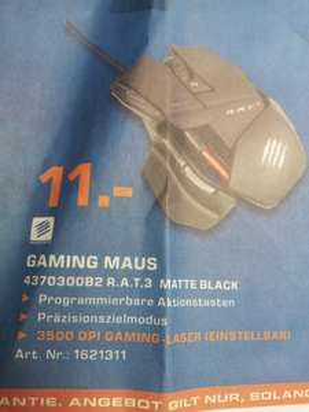 (lokal) Saturn Esslingen: MAD CATZ R.A.T. 3 Gaming Maus matte black