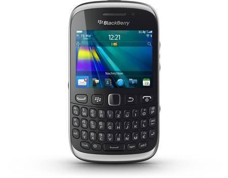 BlackBerry Curve 9320 Smartphone (ohne SIMLOCK) in schwarz für nur 79,00 Euro @MeinPaket.de