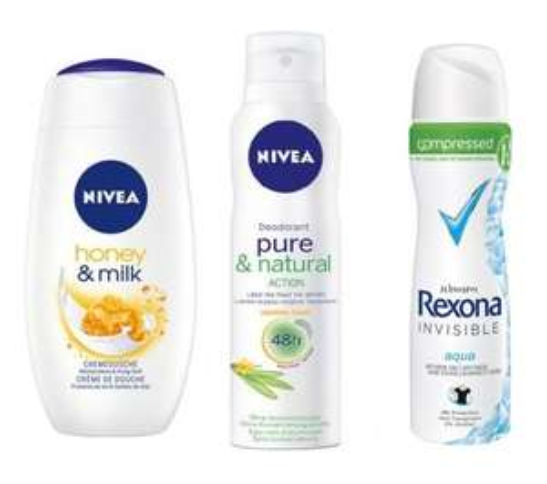 [BUDNIKOWSKY] Nivea Dusch Honey & Milk 250ml / Nivea Deo-Spray Pure Fresh 150ml / Rexona compressed Deo Spray 75ml für 0,77€