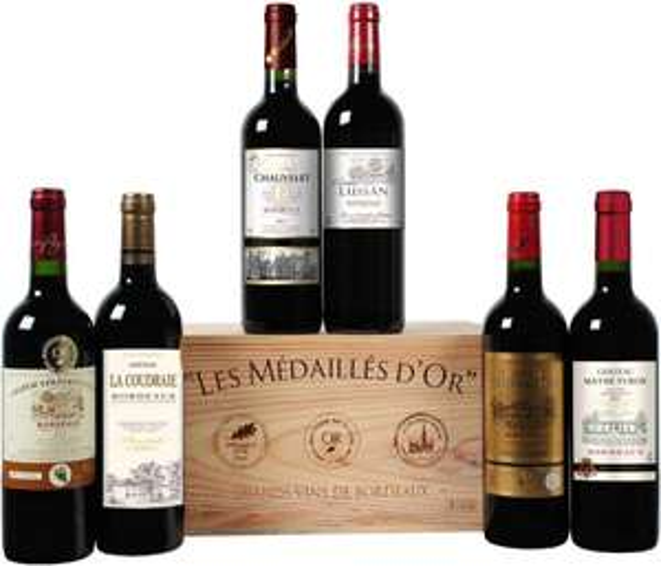 Goldprämierte Bordeaux-Selektion @ weinvorteil.de zu 31,49 Euro inkl. Versand