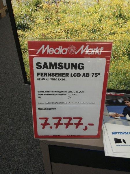 [Lokal Mediamarkt Eislingen] Samsung 85HU7590