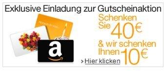 Kaufen Sie Amazon.de Gutscheine im Wert von 40 EUR und wir schenken Ihnen 10 EUR