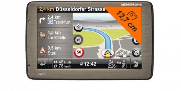 Medion GoPal E5470 - Navigationsgerät mit West&Ost Europa Karten (B-Ware) für 77,77€ @ebay