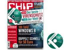 CHIP mit DVD inkl. Kaspersky PURE 3.0 Total Security - Kostenlos
