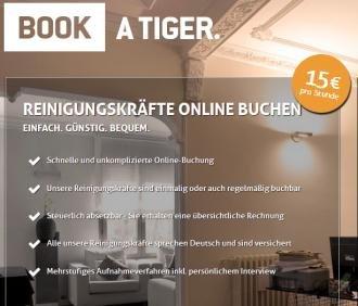 Reinigungsservice 2 Stunden für 10€ @Book a Tiger