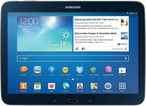 """Samsung Galaxy Tab3 10"""" WiFi 16GB schwarz oder weiß 199,50 CHF(165,41€)"""
