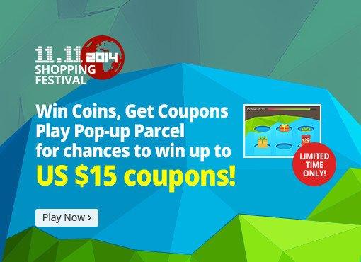 Aliexpress: 11.11 Shopping Festival - Jetzt wieder Coins für Coupon erspielen