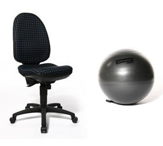 Topstar P70 Ökotest Bürostuhl mit Rückengymnastik-Übungsball und Luftpumpe für 89,10@ +5€ VSK -8% Qipu