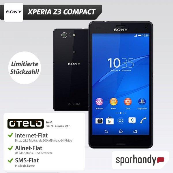 Sony Xperia Z3 Compact + 24 Monate Otelo Allnet-Flat L für 608,76€