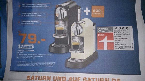 [Saturn Hürth 30.10+31.10 offline] DeLonghi EN166.B + 30€ Cachback von Nesperesso für 79€
