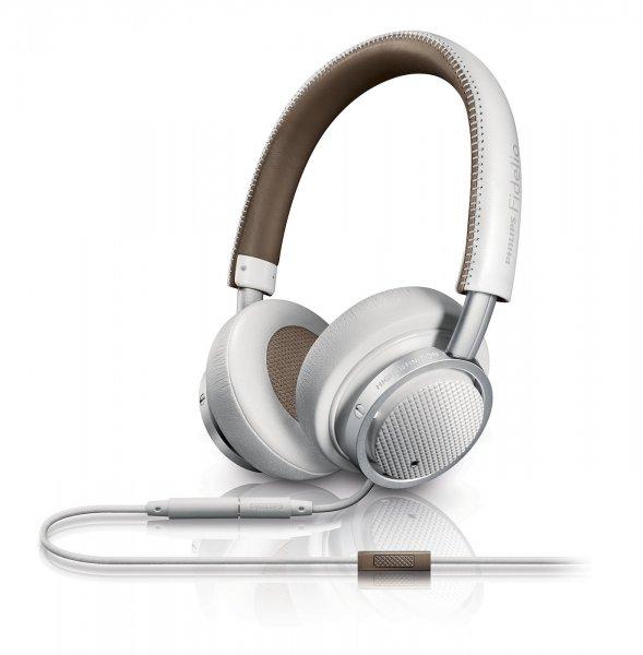 Philips Fidelio M1WT/00 Premium OnEar Kopfhörer inkl. Universal Headsetfunktion, weiß