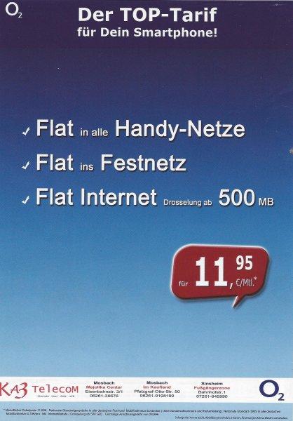 [Lokal Sinsheim] o2 Allnet Flat + Internet Flat 500MB für 13,23€ pro Monat