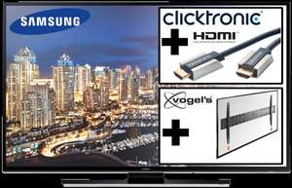"[Reichelt.de] Samsung 50"" UHD TV HU6900 + VOGELS BASE 05 L Wandhalterung + Clicktronic High Speed HDMI™ -Kabel mit Ethernet, 1,5 m + UHD Video Pack"