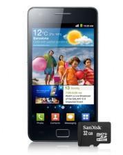 Samsung Galaxy S2 + 32 GB Speicherkarte für 24,95 €/mtl. für einmal 1€
