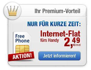 Handy-Internet-Flat 2,49€ für GMX TopMail Kunden bis zu 6 Monate und jederzeit kündbar!!