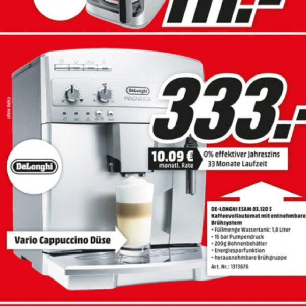 [Lokal] DeLonghi ESAM 03.120.S Magnifica für 333€ plus 40€ Gutschein