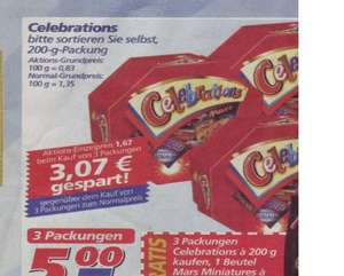 [LOKAL] 3x Celebrations plus Zugabe für 5 Euro im REAL HAMM/Westf.