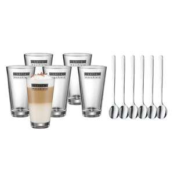 [Amazon WHD - Sehr gut] WMF Latte Macchiato Set, 6 Gläser inkl. 6 Löffel (Prime sonst +3 Euro)
