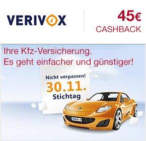 [Qipu] Verivox ( ehemals Transparo) : KFZ Vergleichsrechner ( inkl. HUK24 ) mit 45€ Cashback