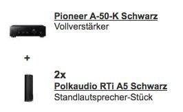 Pioneer A-50-K Vollverstärker + 1 Paar Polk Audio RTi A5 Standlautsprecher für 799€ @Redcoon.de