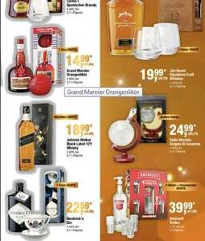 METRO (bundesweit) Jim Beam Signature Craft für 23,79€ + 2 Gläser und 3L Smirnoff Vodka + 4 Gläser + Pumpe für 47,59€ und noch andere nette Sachen!!!