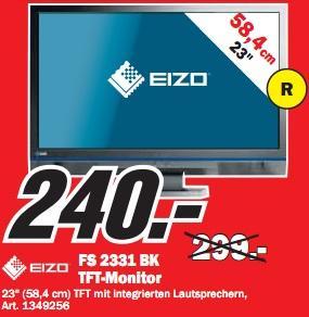 Media Markt Zwickau: HTC 7 Mozart für 180€, Eizo Foris FS2331 für 240€ und andere gute Preise!