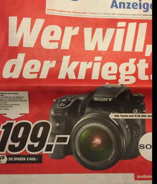 [MM Ingolstadt] Sony Alpha 58 Kit mit 16GB Karte und Tasche